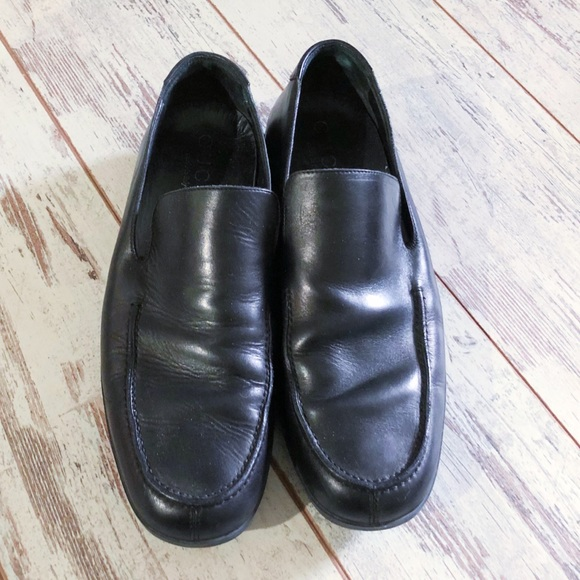 Sale Mens Black Leather Loafers 9 42